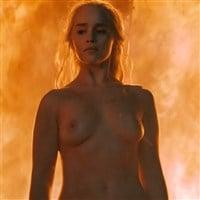 "Emilia Clarke Fiery Nude Scene From ""Game of Thrones"""