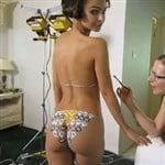 Emily Ratajkowski Body Paint Butt Jiggle