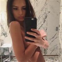 Emily Ratajkowski Posts A Covered Nude Selfie
