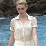 Emma Stone Shows Her Nips In A See Thru Bra