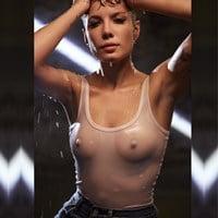 Halsey's Empowering Hard Nipples In A See Thru Top