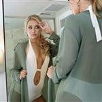 Hayden Panettiere Admiring Herself In A Mirror