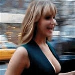 Jennifer Lawrence Bounces Her Boobs Video