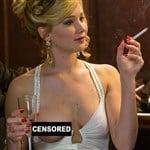 Jennifer Lawrence Behind The Scenes Boob Slip