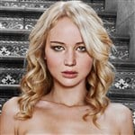 Jennifer Lawrence Poses In The Nude On Some Steps