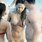 Jessica Alba Wears Completely See Through Bikini