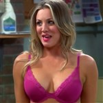Kaley Cuoco In A Pink Bra GIF