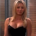 Kaley Cuoco In A Little Black Dress