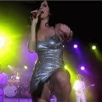 Katy Perry Flesh-Colored Panties Upskirt GIF