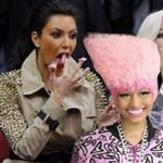 Kim Kardashian Eats Nicki Minaj's Hair