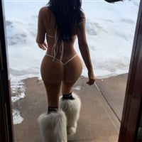 Kim Kardashian's Gigantic Ass In A G-String