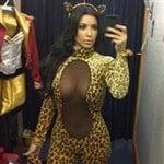 Kim Kardashian Slutty Leopard Halloween Costume