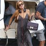 Lindsay Lohan Is A Boob Thief