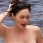 Megan Fox Topless In The Ocean
