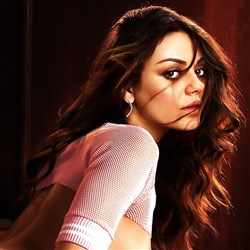 Mila Kunis Poses Nude In Front Of A Naked Photo