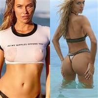 Samantha Hoopes' Hard Nipples vs. Hannah Ferguson's Twerking Ass