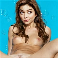 Sarah Hyland Nude With Her Legs Spread