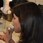 Selena Gomez Eats A Crepe Like A Whore