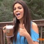 Victoria Justice Promotes Underage Drinking