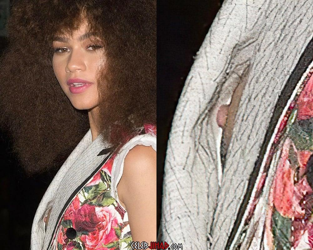 Zendaya Nipple Slip Behind-The-Scenes Of A Photo Shoot