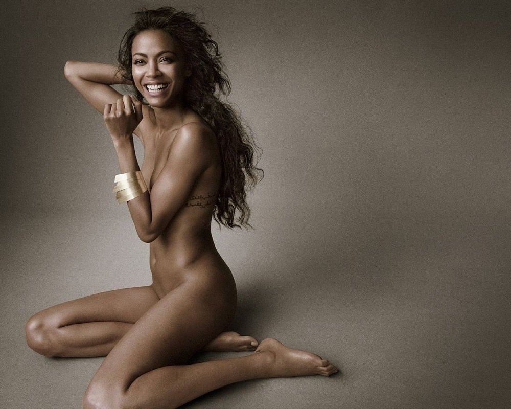 Zoe Saldana Nude Photo Shoot