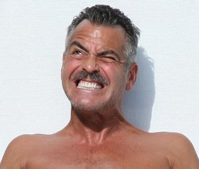 George Clooney sex face