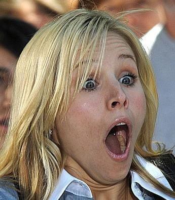 Kristen Bell sex face