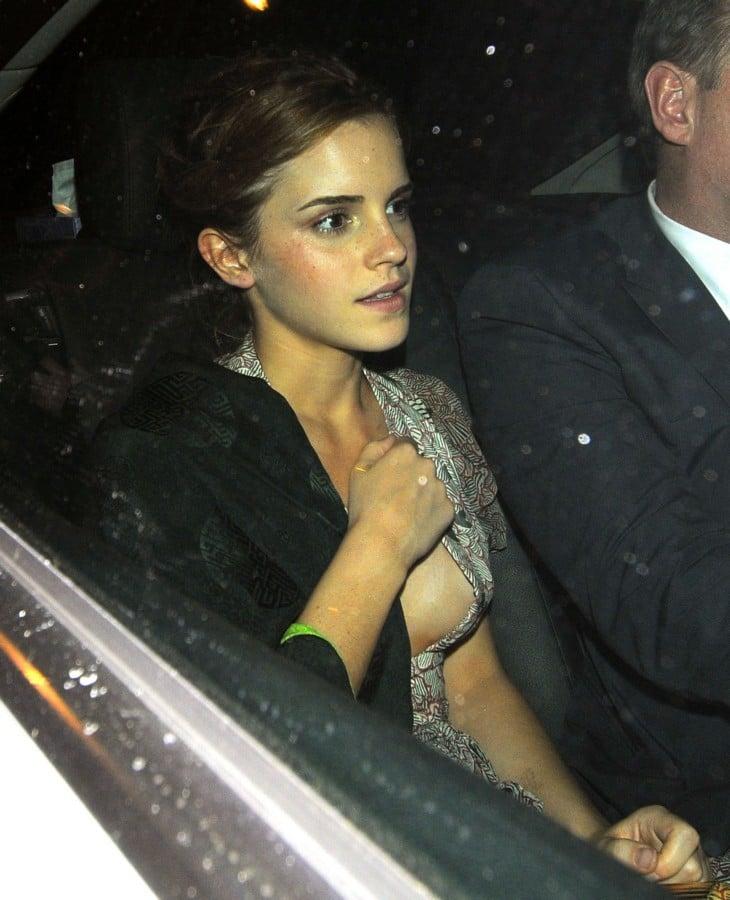 Emma Watson's Near Nip Slip