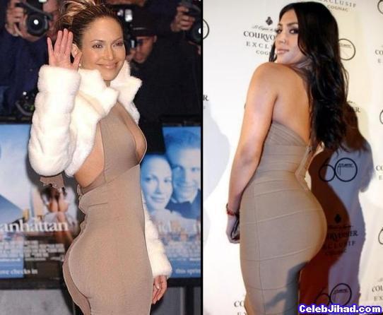 Jennifer Lopez Kim Kardashian booty