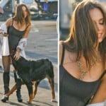Dog Sniffs Eliza Dushku's Snatch