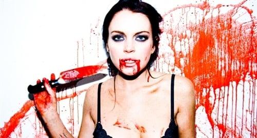 Lindsay Lohan blood