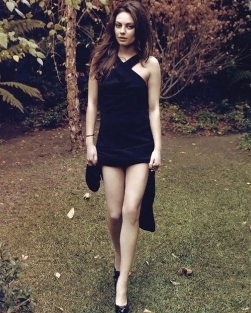 Mila Kunis black dress