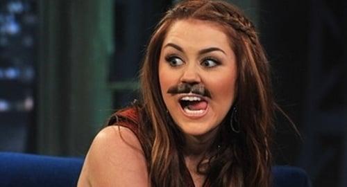 Miley Cyrus moustache