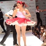 Ariana Grande Upskirt Performance For Macy's