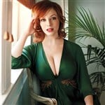 Christina Hendricks Wears Low Cut Burka