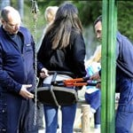 Kim Kardashian's Fat Ass Gets Stuck In A Swing