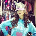 Victoria Justice Wears Strap-On On Her Head