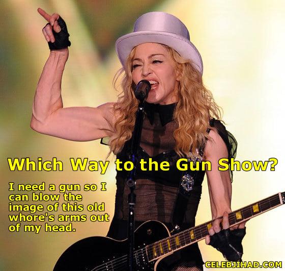 madonna gun show