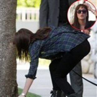 Leighton Meester Caught Pooping In Neighbor's Lawn