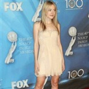 Dakota Fanning Wears Disappearing Dress