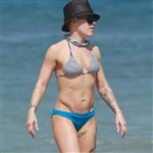 Pink In A Bikini Is One Handsome Lady