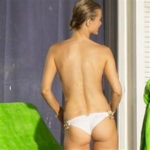 Candid Joanna Krupa Topless Pool Pics