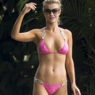 Joanna Krupa Nips & Camel Toe Thong Bikini Pics