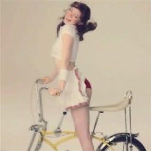 Emma Stone Mini Skirt Upskirt GIF