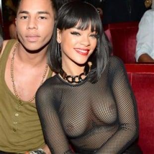 Rihanna Wears Ridiculously See Thru Shirt In Paris