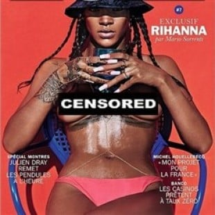 Rihanna Completely Topless For Lui Magazine