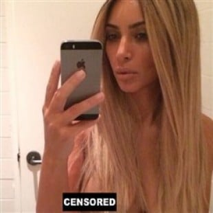 Kim Kardashian Posts A Pic Of Her Nipple To Her Facebook