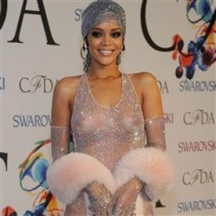 Rihanna Classes Up An Event In A See Thru Dress