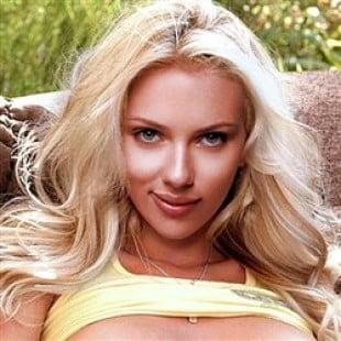 Scarlett Johansson Spreads In See Thru Panties