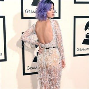 Katy Perry Wears A See Thru Dress To The Grammys